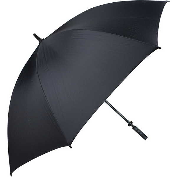 "Pro-line (tm) - Black - Single Canopy Golf Umbrella With Black Braided Fiberglass Shaft, 62"" Photo"