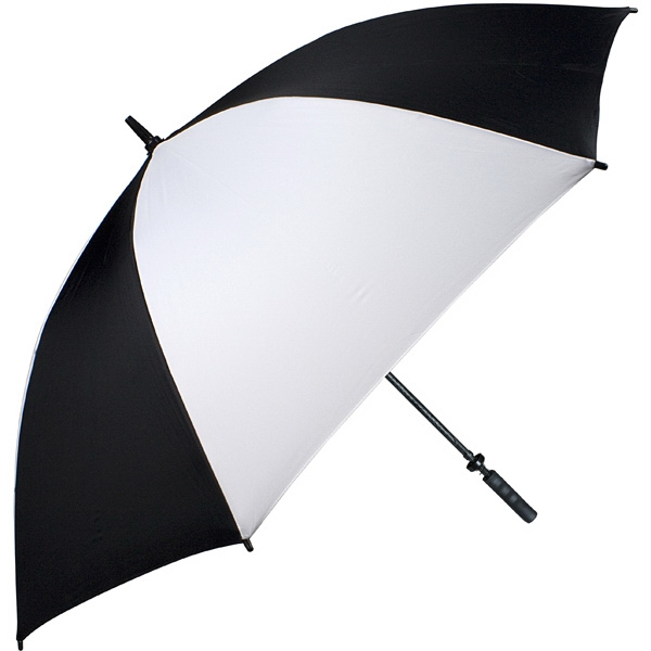 "Pro-line (tm) - Black-white - Single Canopy Golf Umbrella With Black Braided Fiberglass Shaft, 62"" Photo"
