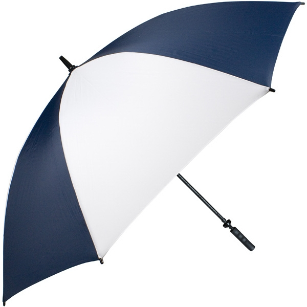"Pro-line (tm) - Navy-white - Single Canopy Golf Umbrella With Black Braided Fiberglass Shaft, 62"" Photo"