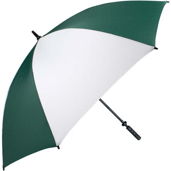"Pro-line (tm) - Pine-white - Single Canopy Golf Umbrella With Black Braided Fiberglass Shaft, 62"" Photo"