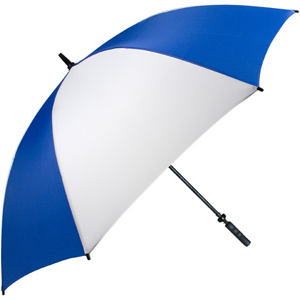 "Pro-line (tm) - Royal-white - Single Canopy Golf Umbrella With Black Braided Fiberglass Shaft, 62"" Photo"