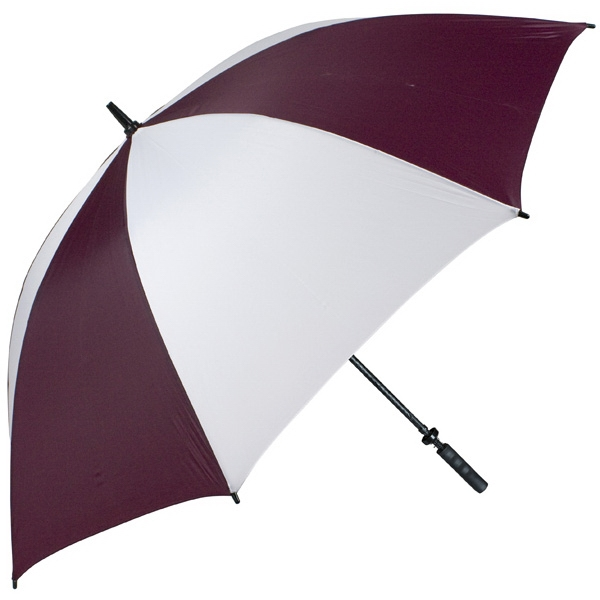 "Pro-line (tm) - Wine-white - Single Canopy Golf Umbrella With Black Braided Fiberglass Shaft, 62"" Photo"