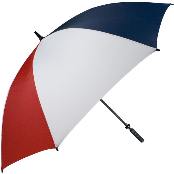 "Pro-line (tm) - Red-white-navy - Single Canopy Golf Umbrella With Black Braided Fiberglass Shaft, 62"" Photo"
