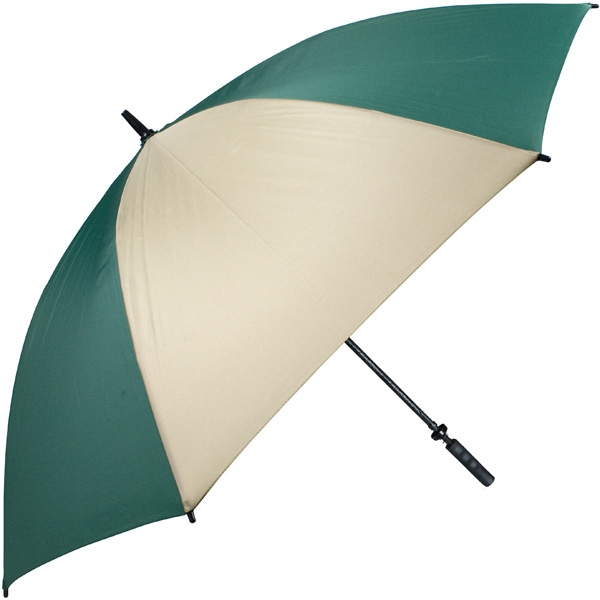 "Pro-line (tm) - Pine-tan - Single Canopy Golf Umbrella With Black Braided Fiberglass Shaft, 62"" Photo"