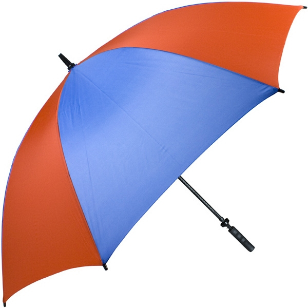 "Pro-line (tm) - Royal-orange - Single Canopy Golf Umbrella With Black Braided Fiberglass Shaft, 62"" Photo"