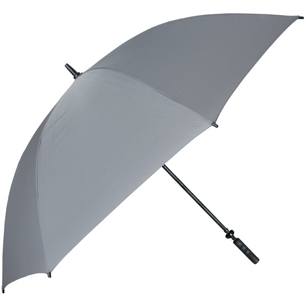 "Pro-line (tm) - Gray - Single Canopy Golf Umbrella With Black Braided Fiberglass Shaft, 62"" Photo"