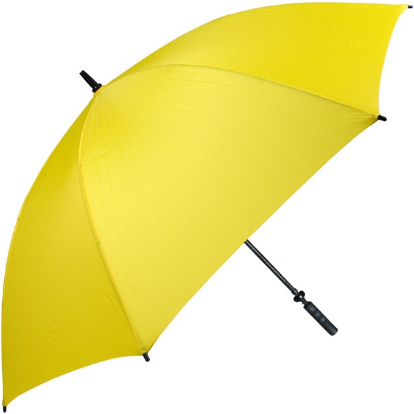 "Pro-line (tm) - Yellow - Single Canopy Golf Umbrella With Black Braided Fiberglass Shaft, 62"" Photo"