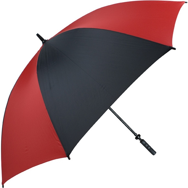 "Pro-line (tm) - Red-black - Single Canopy Golf Umbrella With Black Braided Fiberglass Shaft, 62"" Photo"