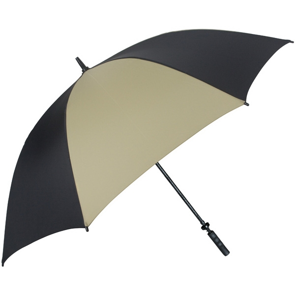 "Pro-line (tm) - Black-gold - Single Canopy Golf Umbrella With Black Braided Fiberglass Shaft, 62"" Photo"