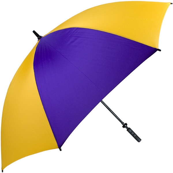 "Pro-line (tm) - Purple-gold - Single Canopy Golf Umbrella With Black Braided Fiberglass Shaft, 62"" Photo"