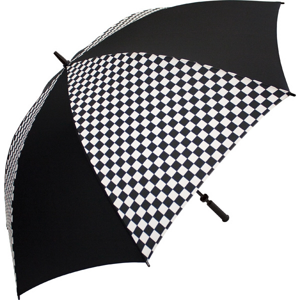"Racing-black - Umbrella With Racing Design, 62"" Arc Photo"