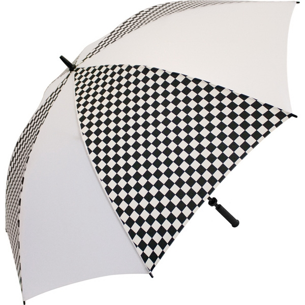 "Racing-white - Umbrella With Racing Design, 62"" Arc Photo"