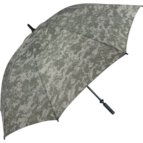 "Digital Camouflage Specialty Golf Umbrella With Slip-resistant Handle, 62"" Arc Photo"