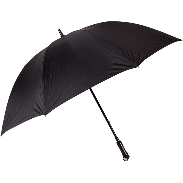 "Nitevision (tm) - Black - 60"" Arc Umbrella With Led Light Handle Photo"