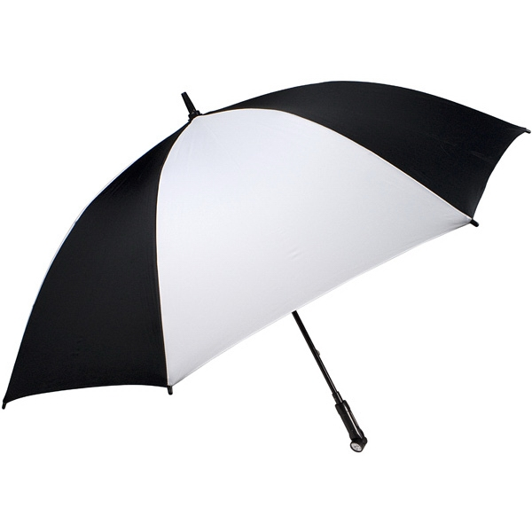 "Nitevision (tm) - Black-white - 60"" Arc Umbrella With Led Light Handle Photo"