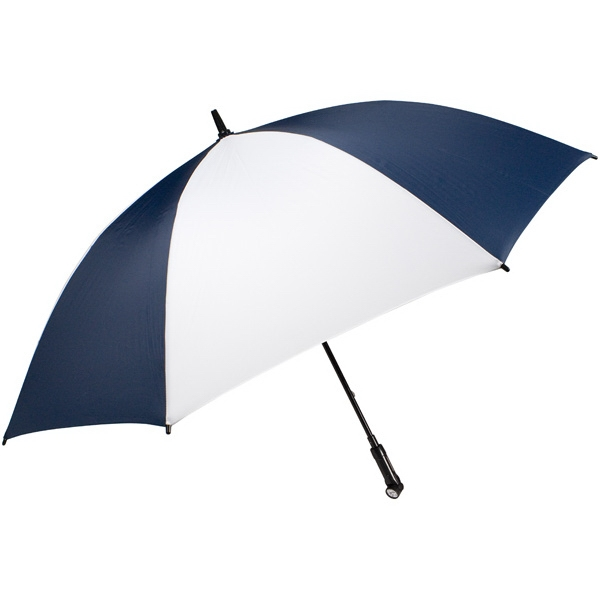 "Nitevision (tm) - Navy-white - 60"" Arc Umbrella With Led Light Handle Photo"