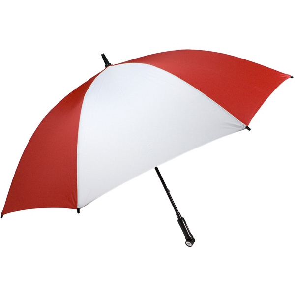 "Nitevision (tm) - Red-white - 60"" Arc Umbrella With Led Light Handle Photo"