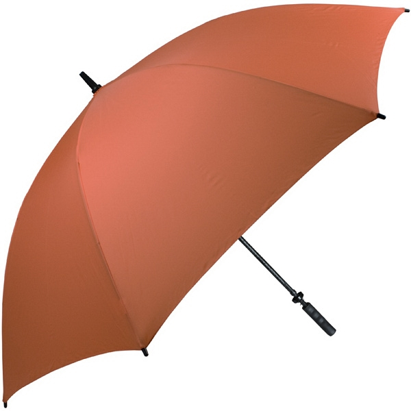 "Pro-line (tm) - Burnt Orange - Single Canopy Golf Umbrella With Black Braided Fiberglass Shaft, 62"" Photo"