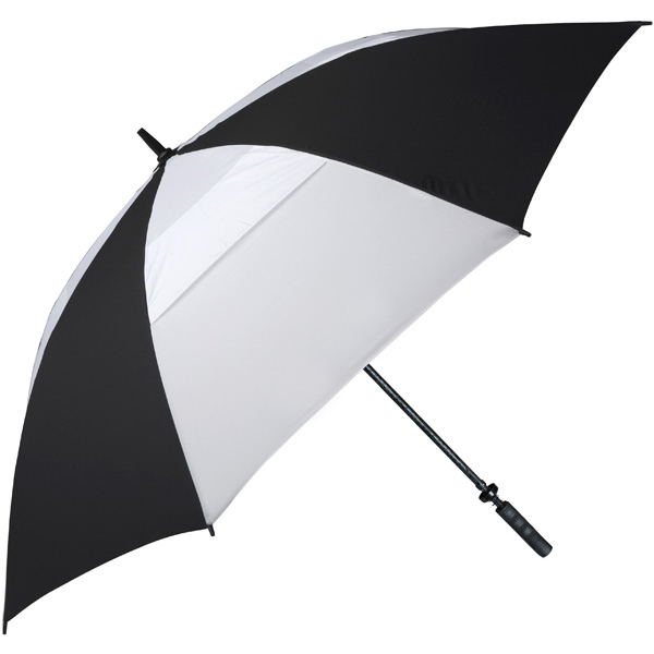 "Hurricane 345 (r) Tour Plus - Black-white - Golf Umbrella With A 62"" Arc And Wind-vents Photo"
