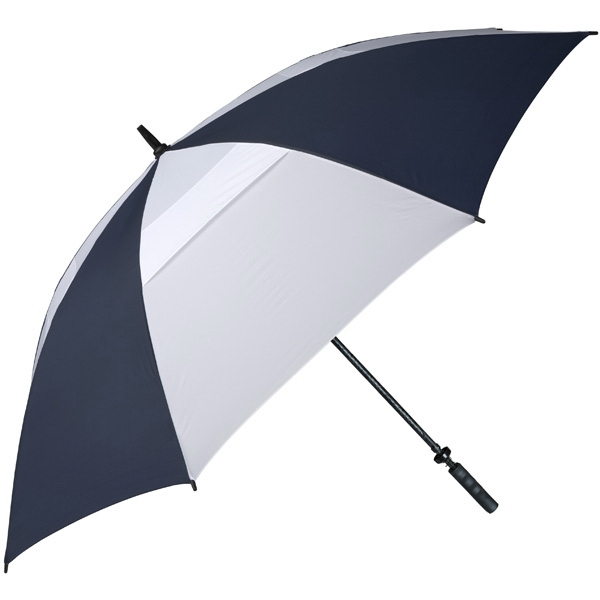 "Hurricane 345 (r) Tour Plus - Navy-white - Golf Umbrella With A 62"" Arc And Wind-vents Photo"
