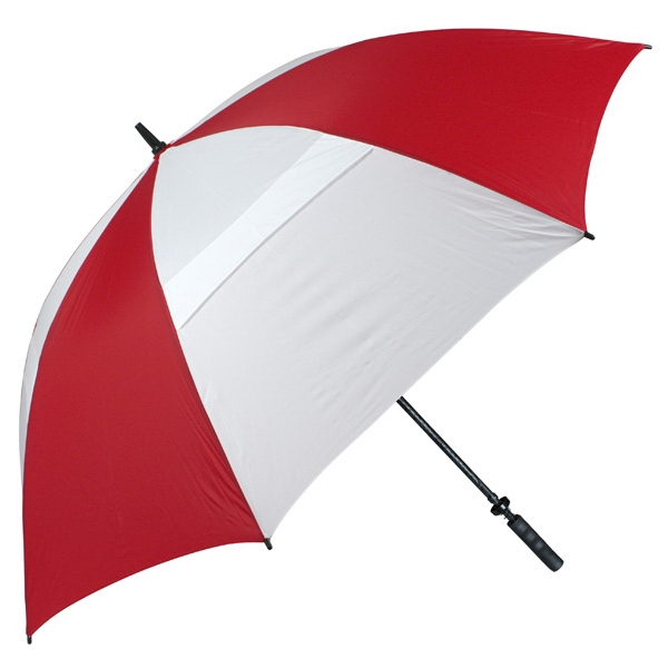 "Hurricane 345 (r) Tour Plus - Red-white - Golf Umbrella With A 62"" Arc And Wind-vents Photo"