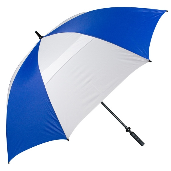 "Hurricane 345 (r) Tour Plus - Royal-white - Golf Umbrella With A 62"" Arc And Wind-vents Photo"