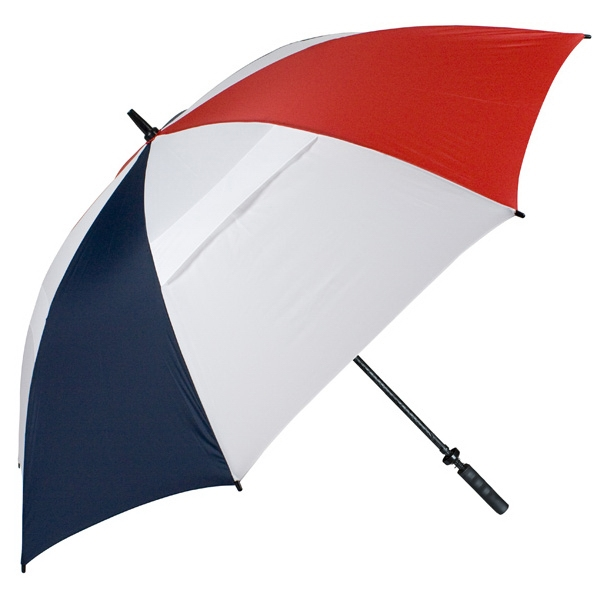 "Hurricane 345 (r) Tour Plus - Red-white-navy - Golf Umbrella With A 62"" Arc And Wind-vents Photo"