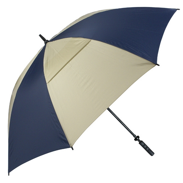 "Hurricane 345 (r) Tour Plus - Navy-tan - Golf Umbrella With A 62"" Arc And Wind-vents Photo"
