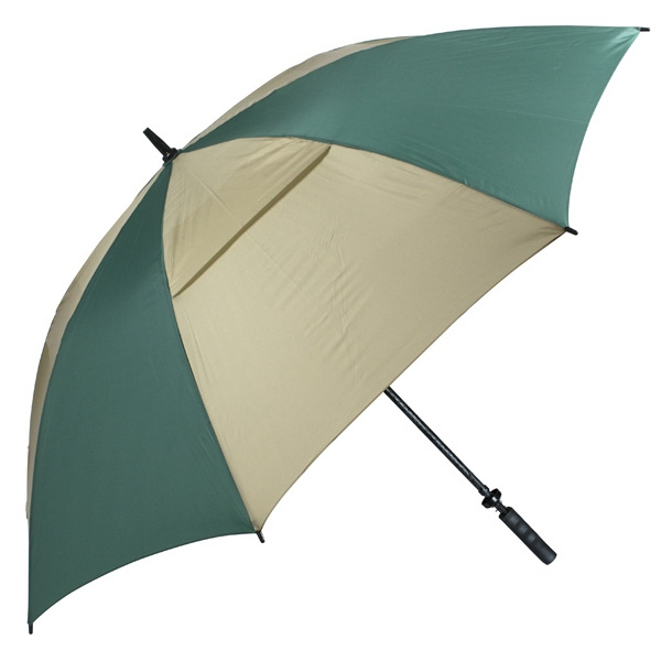"Hurricane 345 (r) Tour Plus - Pine-tan - Golf Umbrella With A 62"" Arc And Wind-vents Photo"