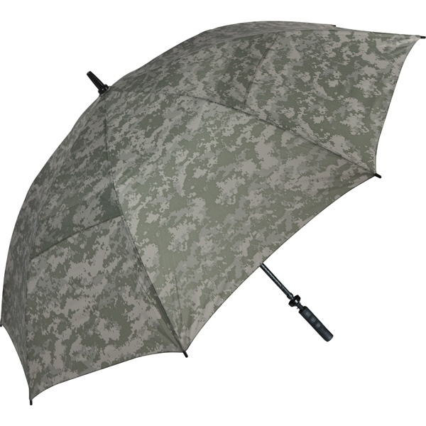 "Digital Camouflage Specialty Umbrella With Wind-venting Technology, 62"" Arc Photo"