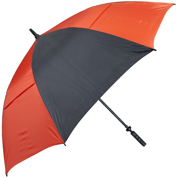 Hurricane 345 (r) Auto Open - Black-orange - Special Edition Wind-vented Auto Open Golf Umbrella Photo