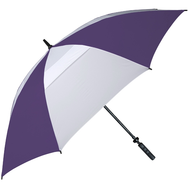 Hurricane 345 (r) Auto Open - Purple-white - Special Edition Wind-vented Auto Open Golf Umbrella Photo