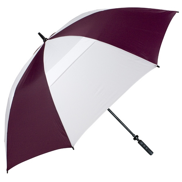 "Hurricane 345 (r) Tour Plus - Wine-white - Golf Umbrella With A 68"" Arc And Wind-vents Photo"