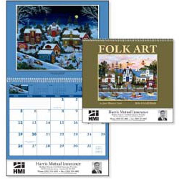 Folk Art - The Colorful Art Of Jane Wooster Scott Featured On This 2015 Calendar Photo