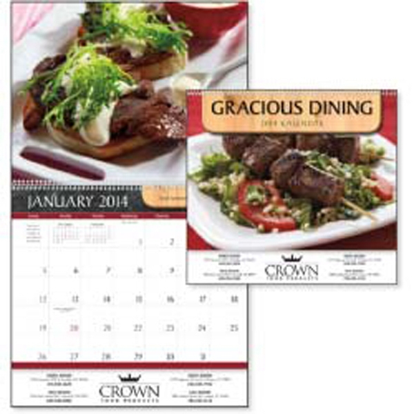 Gracious Dining - Mouth-watering Foods Are Pictured Each Month In This 2015 Calendar Photo