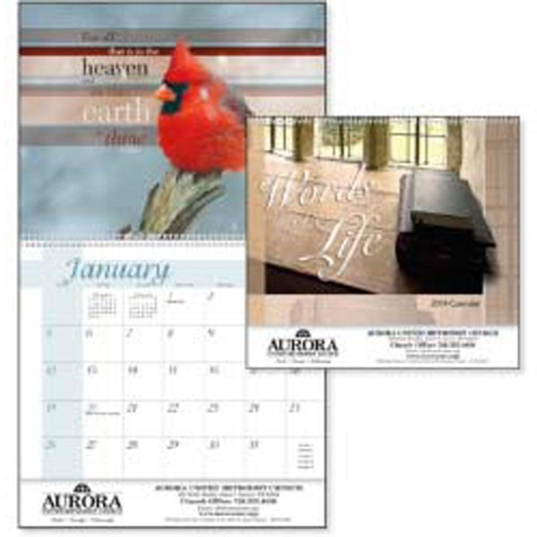 Words Of Life - 2015 Calendar Brings Verses From The King James Bible To Life With Artistic Flair Photo