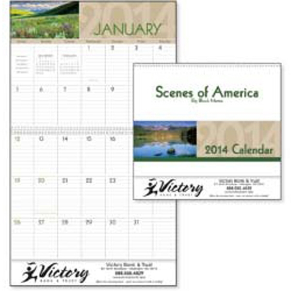 Scenes Of America - 2015 Big Block Memo Calendar With Scenes From America Photo