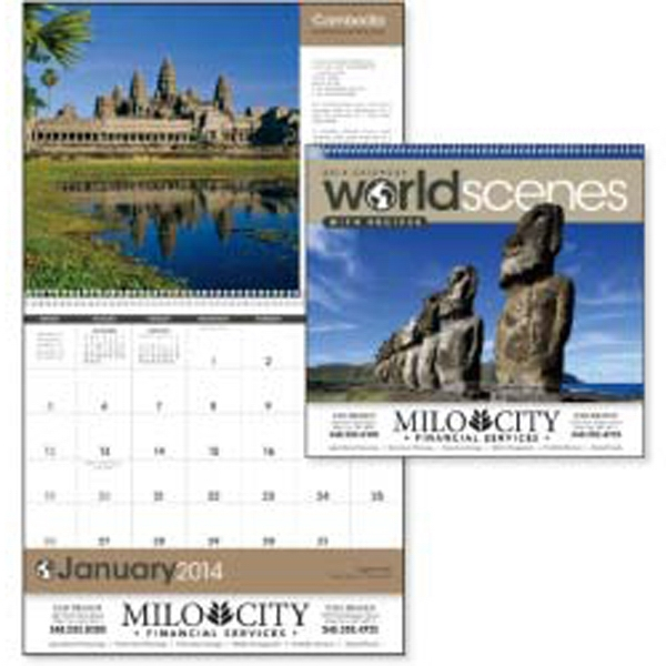 World Scenes With Recipes - 2015 Calendar With Recipes From Featured Countries Photo