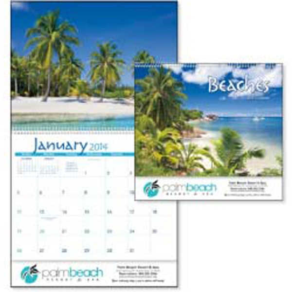 2015 Calendar With Relaxing, Sun-splashed Photographs Of Gorgeous Beaches Photo