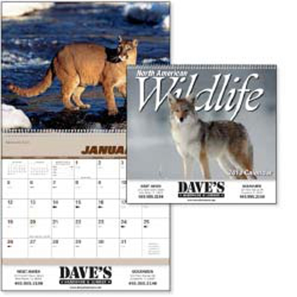 North America Wildlife - 2015 Calendar With Wright's Guide And Wildlife Photos Photo