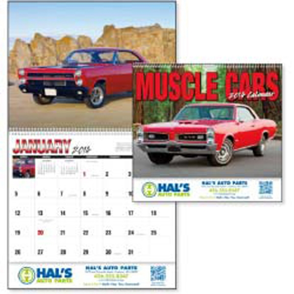 Muscle Cars In Mint Condition Make A Powerful Impression In This 2015 Calendar Photo