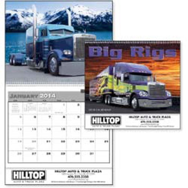 Big Rigs - Incredible Custom Big Rigs Ready For The Open Road Every Month In A 2015 Calendar Photo