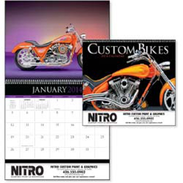 Custom Bikes - 2015 Custom Bike Calendar With Plenty Of Chrome, Custom Paint And Attitude Photo