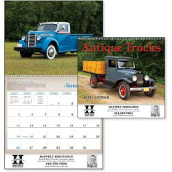 Classy And Powerful Antique Trucks Get The Job Done With Style In A 2015 Calendar Photo