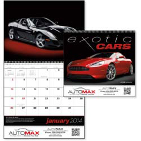 2015 Appointment Calendar Featuring Exotic Cars Photo