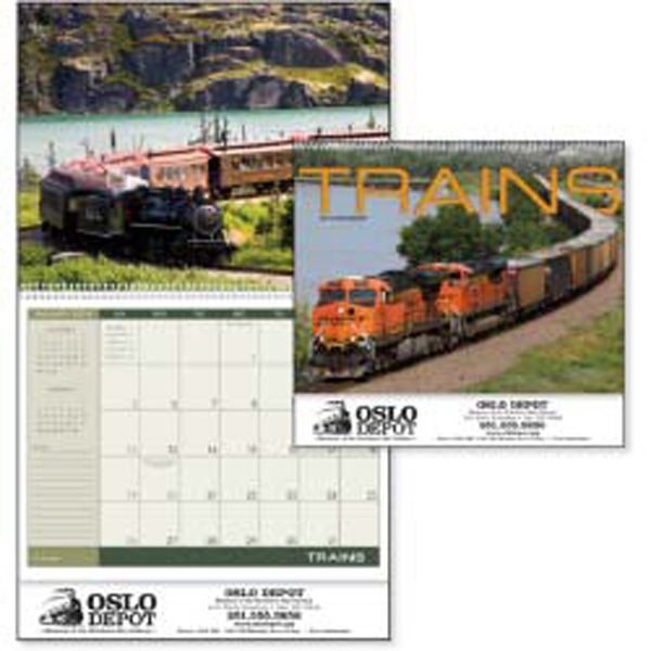 Powerful Locomotives Work Hard All Year In This 2015 Calendar Photo