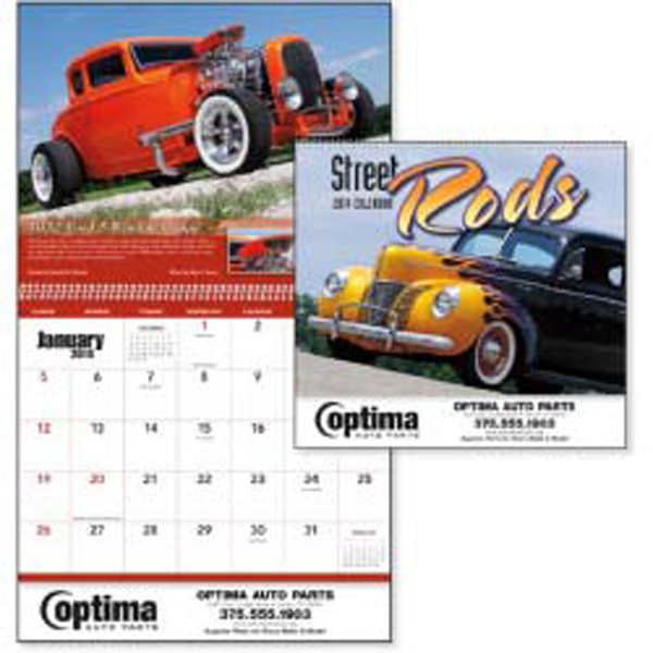 Street Rods - 2015 Calendar Displays Some Of The Most Unique Custom Cars On The Road Today Photo