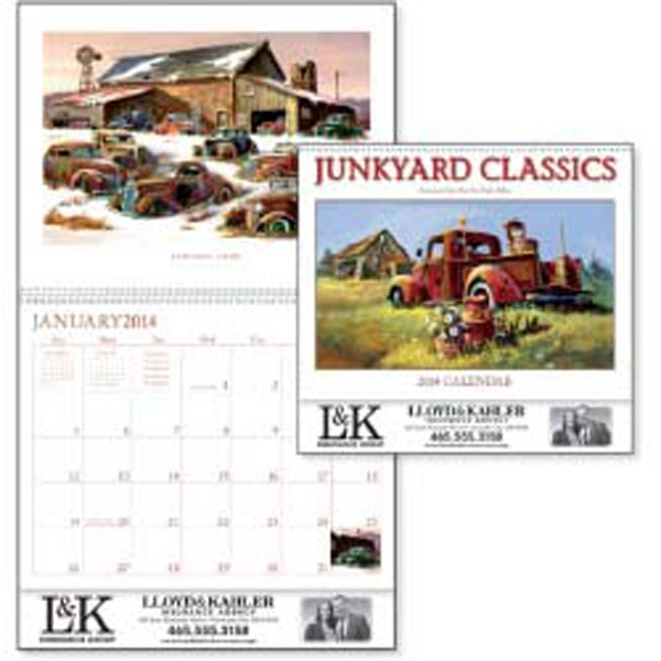 Junkyard Classics - 2015 Calendar With Junkyard Cars By Artist Dale Klee Photo
