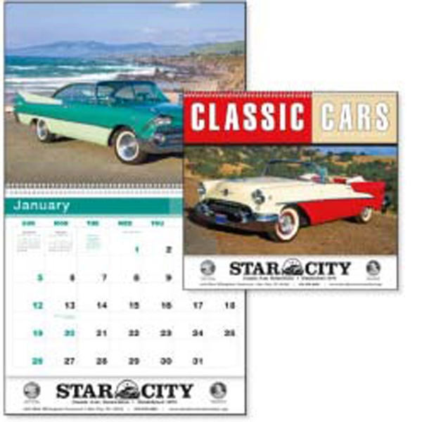 Classic Cars From The 1940s, 1950s And 1960s Fill The Months Of This 2015 Calendar Photo
