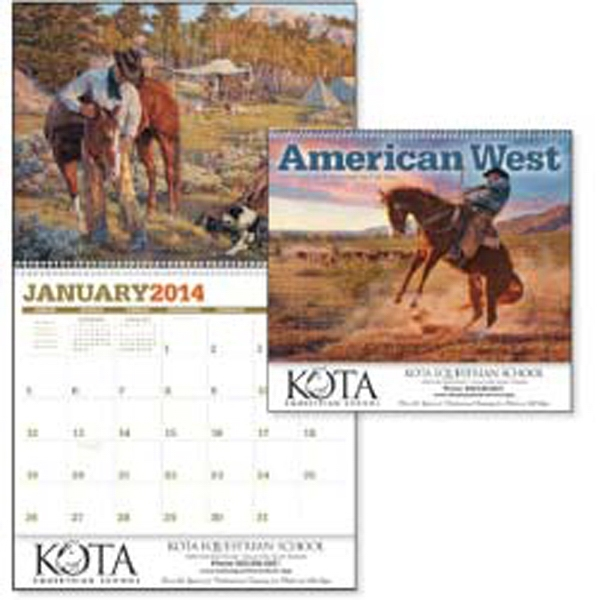 American West - Saddle Up With Cowboys On A 12-month Ride Through Artwork In This 2015 Calendar Photo